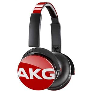 Casti AKG Y50, Cu fir, On-ear, Microfon, rosu