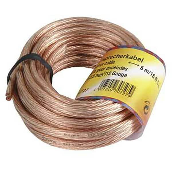 Cablu boxe 2 x 2,5 mm² HAMA 30728, 10 m, transparent