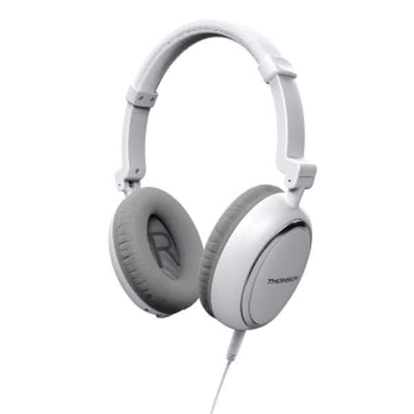Casti THOMSON HED2307NCL, Cu Fir, On-Ear, Microfon, alb