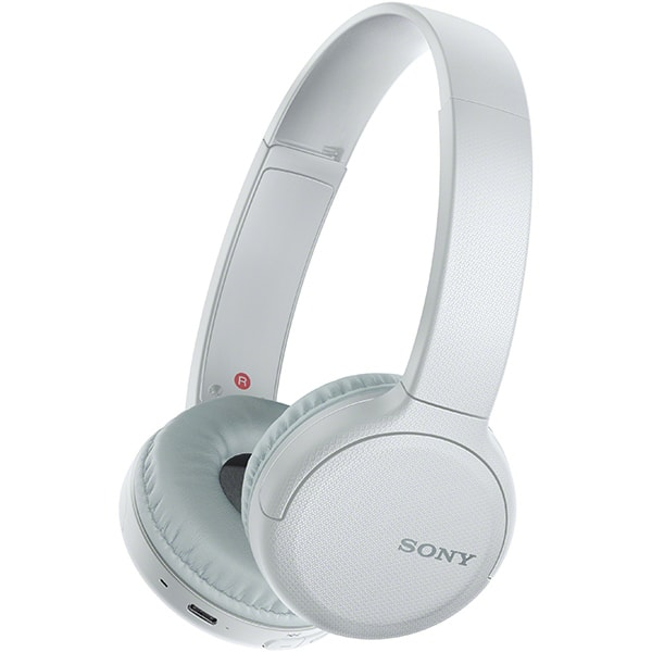 Casti SONY WH-CH510, Bluetooth, On-Ear, Microfon, alb
