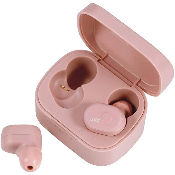 Casti JVC HA-A10T, True Wireless, Bluetooth, In-Ear, Microfon, roz