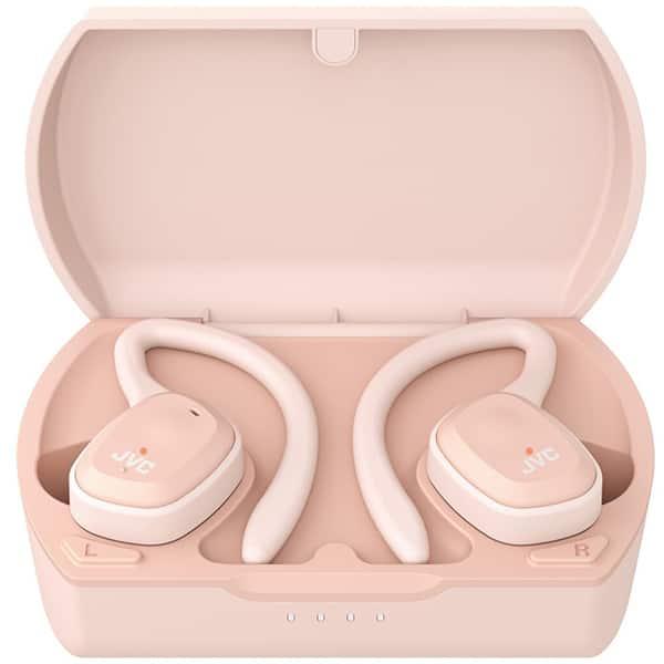 Casti JVC HA-ET45T, True Wireless, Bluetooth, In-Ear, Microfon, roz