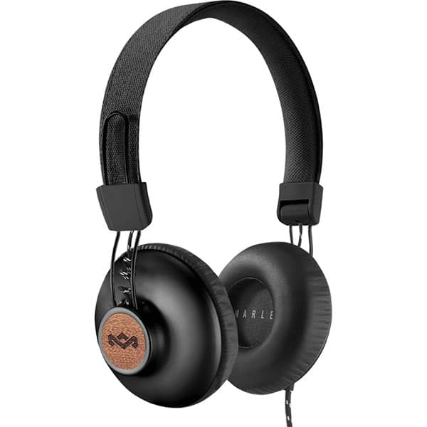 Casti MARLEY Positive Vibration 2, EM-JH121-RA, Cu Fir, On-Ear, Microfon, negru