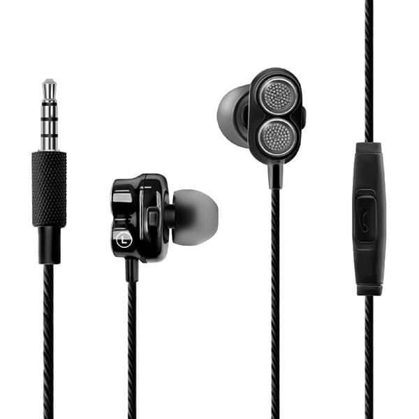 Casti PROMATE Onix, Cu Fir, In-Ear, Microfon, negru