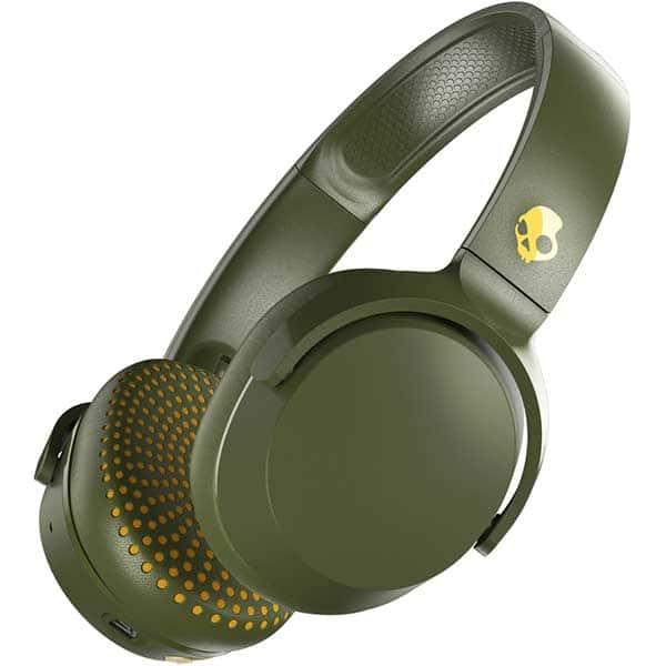 Casti SKULLCANDY Riff S5PXW-M687, Bluetooth, On-ear, Microfon, Olive Moss Yellow