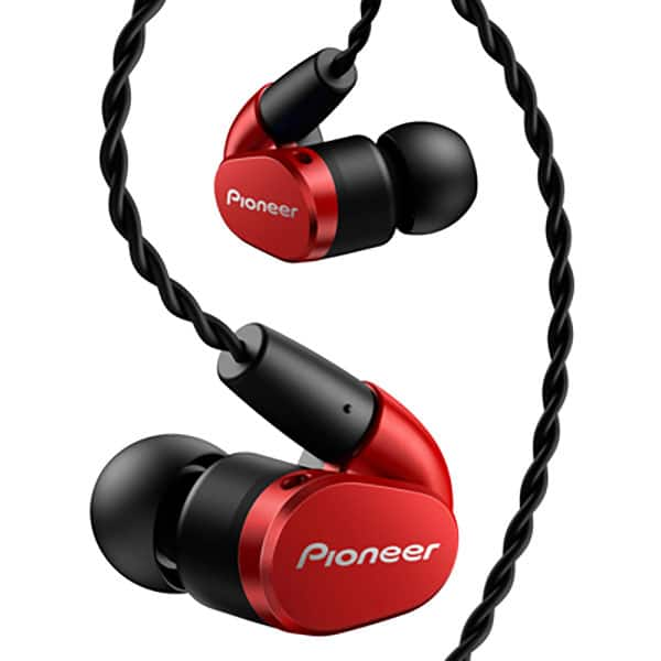 Casti PIONEER SE-CH5T-R, Cu Fir, In-Ear, Microfon, rosu
