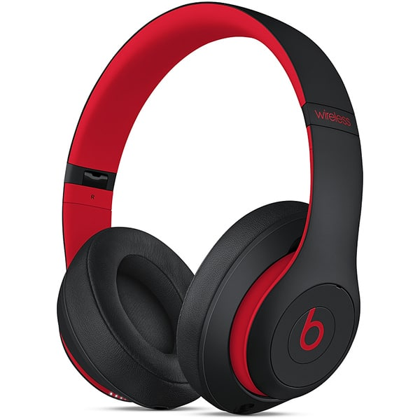Casti BEATS Studio 3 Decade Collection MRQ82ZM/A, Bluetooth, Over-Ear, Microfon, Noise Cancelling, negru-rosu