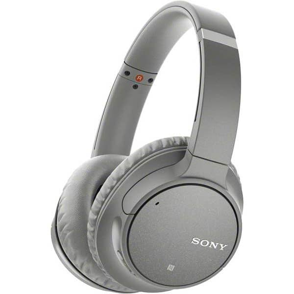 Casti SONY WHCH700NH, Bluetooth, NFC, On-Ear, Microfon, Noise Cancelling, Google Assistant, gri
