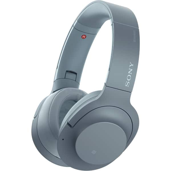 Casti SONY WHH900NL, Bluetooth, NFC, On-Ear, Microfon, Noise Cancelling, Hi-Res, albastru