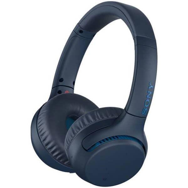 Casti SONY WH-XB700, Bluetooth, NFC, On-Ear, Microfon, albastru