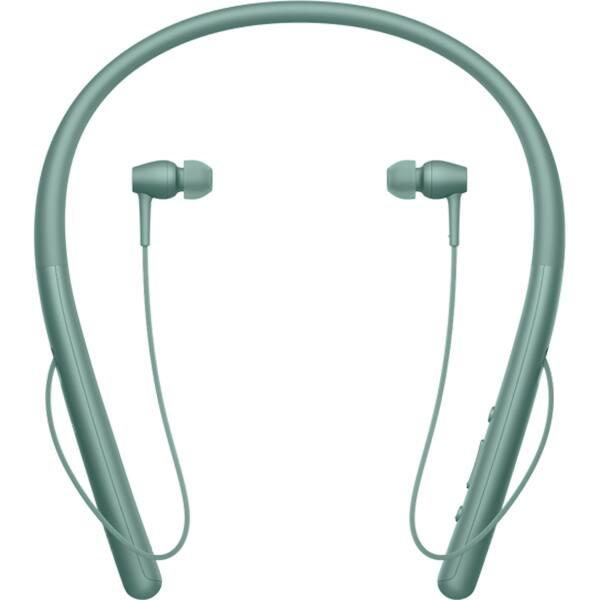 Casti SONY WIH700G, Bluetooth, NFC, In-Ear, Microfon, Hi-Res, verde
