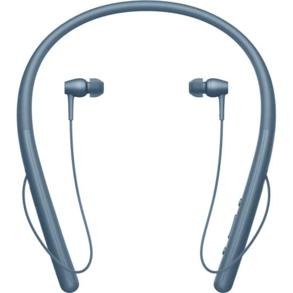 Casti SONY WIH700L, Bluetooth, NFC, In-Ear, Microfon, Hi-Res, albastru