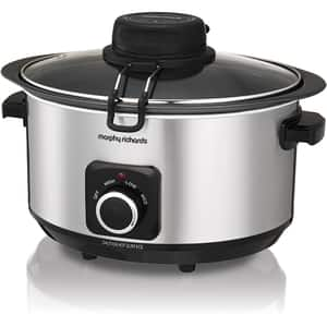 Multicooker MORPHY RICHARDS Stew and Stir 461010, 6.5l, 163W, argintiu-negru