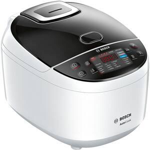 Multicooker BOSCH MUC11W12, 5l, 940W, 48 programe, alb-negru