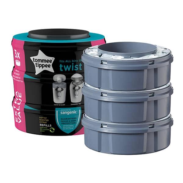 Rezerve TOMMEE TIPPEE Twist&Click TT0128, 3 buc