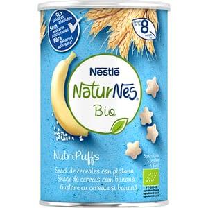 Gustare NESTLE NaturNes BIO NutriPuffs cu cereale si banane 12395074, 8 luni+, 35g