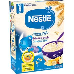 Cereale NESTLE Somn usor - Grau cu 5 Fructe 12417651, 8 luni+, 250g