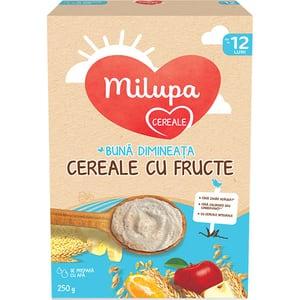 Cereale MILUPA Buna dimineata cu fructe 657551, 12 luni+, 250g