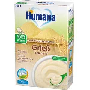 Cereale HUMANA ECO cu gris fara lapte 77552, 4 luni+, 200g