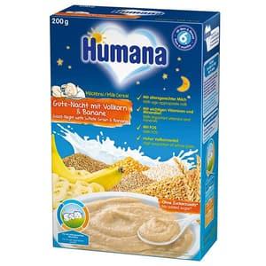 Cereale HUMANA cu lapte Noapte buna 77559, 6 luni+, 200g