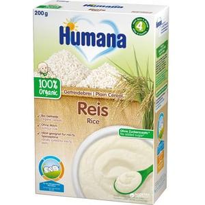 Cereale HUMANA ECO Orez fara lapte 77566, 4 luni+, 200g