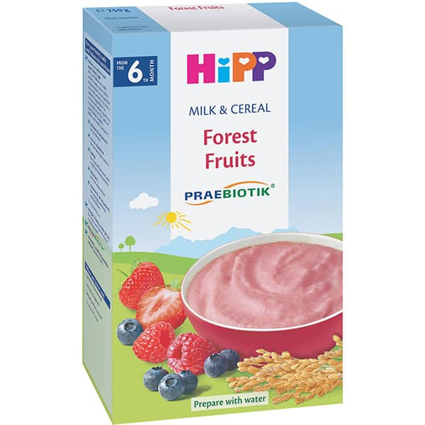 Cereale HIPP cu lapte si fructe de padure 1138, 6 luni+, 250g