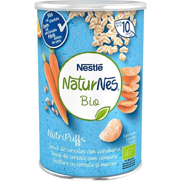 Gustare NESTLE NaturNes BIO NutriPuffs cu cereale si morcovi 12395075, 10 luni+, 35g