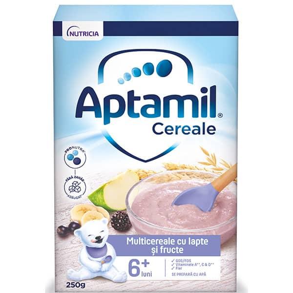 Cereale APTAMIL Multicereale cu lapte si fructe 657540, 6 luni+, 250g