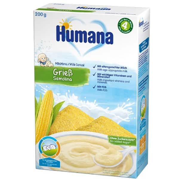 Cereale HUMANA cu lapte si gris 77561, 4 luni+, 200g
