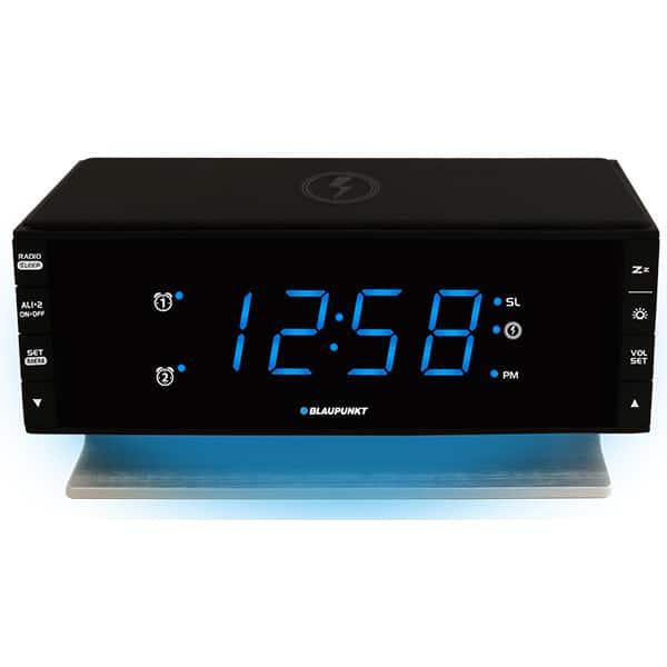 Radio cu ceas BLAUPUNKT CR55CHARGE, FM, Incarcator USB, Incarcator wireless, negru