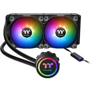 Cooler procesor cu racire lichida THERMALTAKE TH240 ARGB Sync, 2 x 120 mm, CL-W286-PL12SW-A