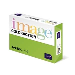 Hartie color pentru copiator COLORACTION, A5, 500 coli, verde intens-Java