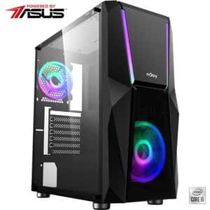 Sistem Desktop Gaming MYRIA Digital V33WIN Powered by ASUS, Intel Core I5-10400F pana la 4.3GHz, 16GB, SSD 240GB + HDD 1TB, NVIDIA GeForce GTX 1660 6GB, Windows 10 Home