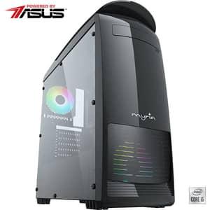 Sistem Desktop Gaming MYRIA Digital 34 Powered by ASUS, Intel Core I5-10400F pana la 4.3GHz, 16GB, SSD 240GB + HDD 1TB, NVIDIA GeForce GTX 1650 4GB, Ubuntu