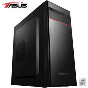 Sistem Desktop PC MYRIA Live V61 Powered by Asus, Intel i5-10400F pana la 4.3GHz, 8GB, SSD 240GB, NVIDIA GeForce GT 710 2GB, Ubuntu