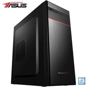 Sistem Desktop PC MYRIA Live V58 Powered by ASUS, Intel Core i3-9100F pana la 4.2GHz, 8GB, SSD 240GB, NVIDIA GeForce GT 710 2GB, Ubuntu