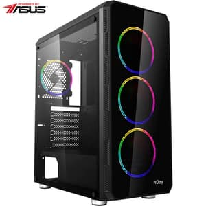 Sistem Desktop Gaming MYRIA Style V58 Powered by ASUS, AMD Ryzen 7-3700X pana la 4.4GHz, 16GB, SSD 480GB, NVIDIA GeForce GTX 1660 6GB, Ubuntu