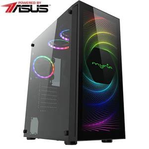 Sistem Desktop PC MYRIA Style V67 Powered by ASUS, AMD Ryzen 7 3800X pana la 4.5GHz, 16GB, SSD 1TB, NVIDIA GeForce GTX 1660 Super 6GB, Ubuntu