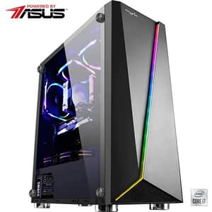 Sistem Desktop Gaming MYRIA Vision V36WIN Powered by Asus, Intel Core i7-10700KF pana la 5.1GHz, 32GB, 1TB + SSD 480GB, NVIDIA GeForce RTX 2060 6GB, Windows 10 Home