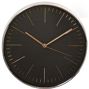 Ceas de perete NEDIS CLWA013PC30BK, diametru 30 cm, fundal negru, roz