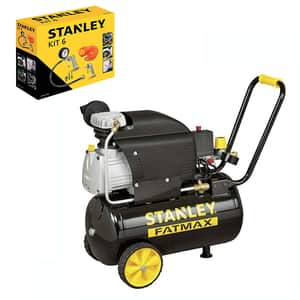 Compresor aer cu ulei STANLEY FatMax D211/8/24S, 24L, 1500W, 2CP, 8 bar, 222L/min + kit 6 accesorii 9045717STN