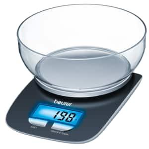 Cantar de bucatarie BEURER KS25, 3kg, negru-argintiu