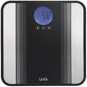 Cantar corporal cu analizator LAICA PS5012, 180kg, electronic, sticla securizata, negru