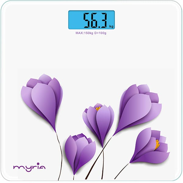 Cantar de persoane MYRIA MY4806WH, electronic, 150kg, alb
