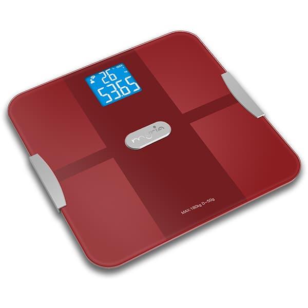 Cantar persoane Smart Bluethoot MYRIA MY4836, electronic, 180kg, rosu