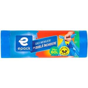Saci menajeri EPACK 014388, 24 bucati, 60 l, albastru