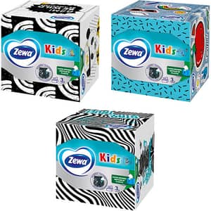 Servetele faciale ZEWA Kids, 3 straturi, 60 bucati, 18 cutii