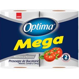 Prosop bucatarie SANO Optima Mega, 2 straturi, 2 role