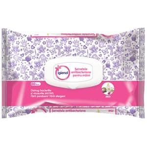 Servetele umede antibacteriene IGIENOL Mar, 60 buc