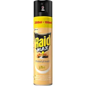 Spray anti-insecte taratoare RAID Max cu actiune indelungata, 400 ml